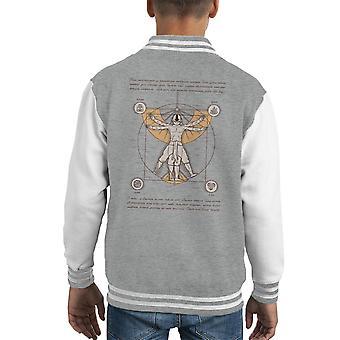 Vitruvian Aang Dragonball Z Kid's Varsity jakke