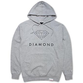 Diamond Supply Co Futura Zeichen Hoodie grau