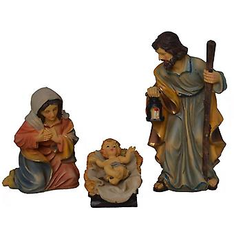 Nativity crib figures 3 piece 15 cm for Nativity Holy Family