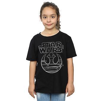 Star Wars Girls The Last Jedi Resistance Logo Metallic T-Shirt