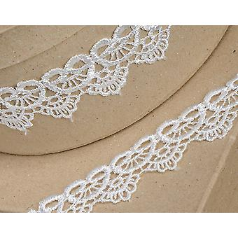 35mm Ivory Scalloped Lace Border Ribbon for Craft - 4.5m