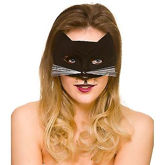 Halloween Black Cat Eye Mask Fancy Dress Accessory