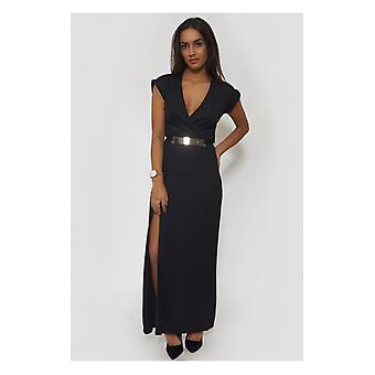 The Fashion Bible Summer Love Side Split Black Maxi Dress