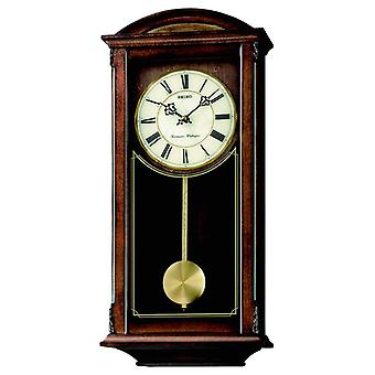 Seiko Westminster Whittington Dual Chime Wall Clock with Pendulum - Brown