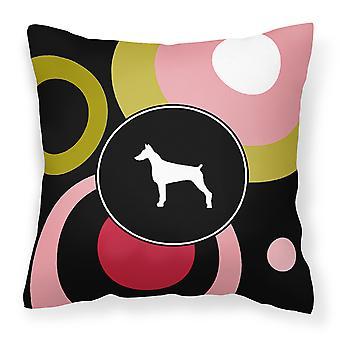 Carolines Treasures  KJ1077PW1414 Doberman Decorative   Canvas Fabric Pillow