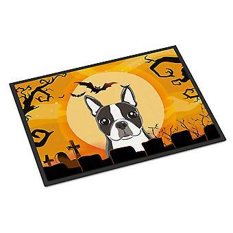 Halloween Boston Terrier Indoor or Outdoor Mat 18x27