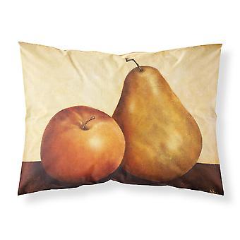 Apfel und Birne Stoff Standard Kissenbezug