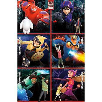 Disney Big Hero 6 - Heroes Grid Poster Poster Print