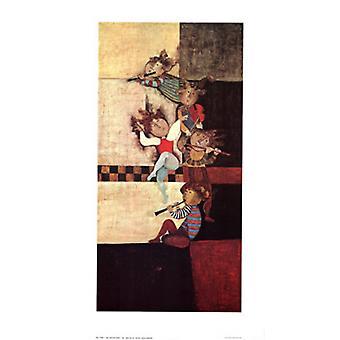 Les Musiciens Poster Print by Graciela Rodo Boulanger (21 x 37)