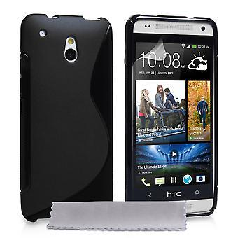 Caseflex HTC en Mini silikone Gel S-Line sag - sort