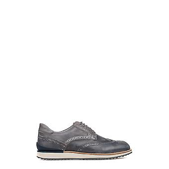Dock steps men's DSE103224 gray leather lace-up shoes