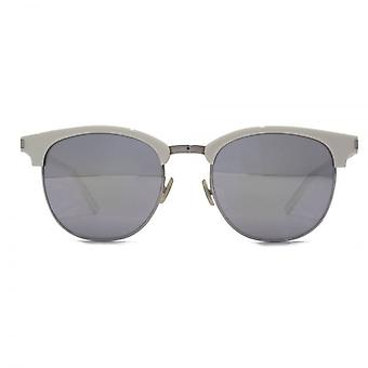 Saint Laurent SL 108 Surf Browline Style Sunglasses In Ivory Mirror