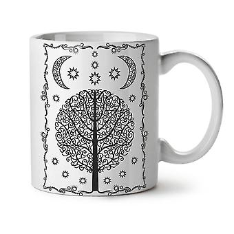 Ornament Life Tree NEW White Tea Coffee Ceramic Mug 11 oz | Wellcoda