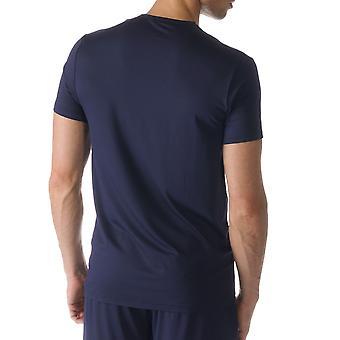 Mey 65630-668 męska Jefferson niebieski kolor Solid piżamy piżamy Top