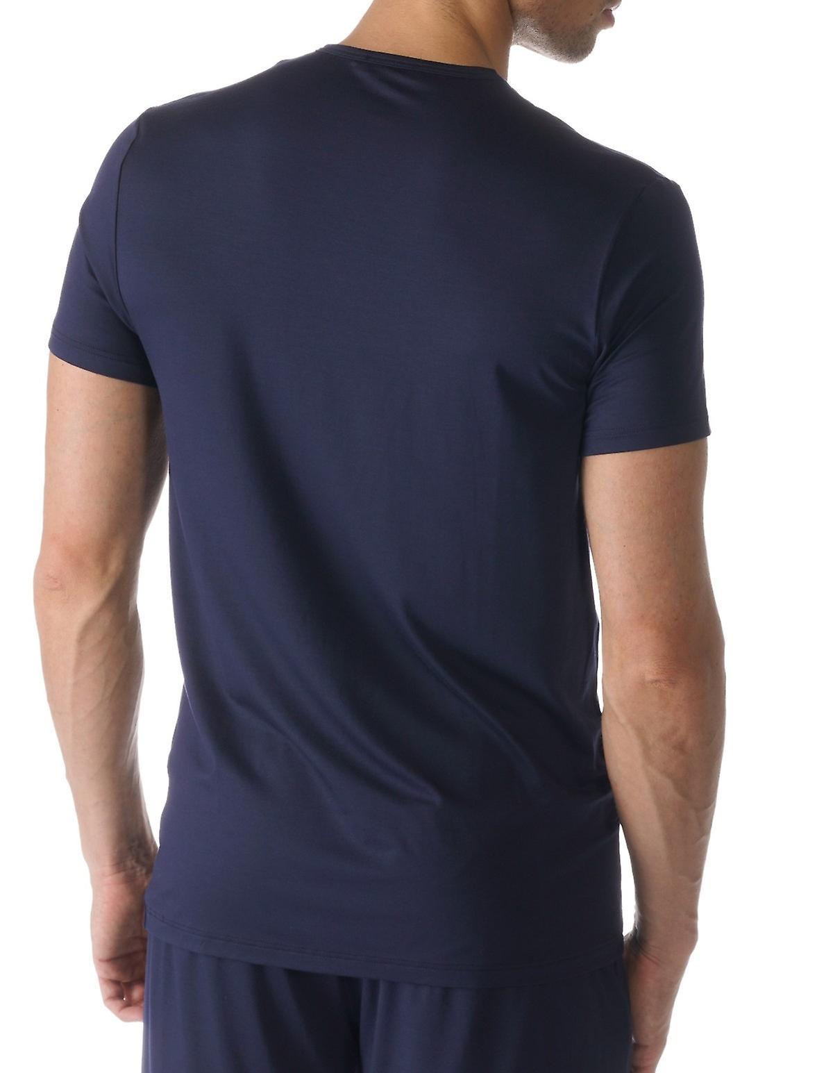 Mey 65630-668 Men's Jefferson Blue Solid Colour Pajama Pyjama Top