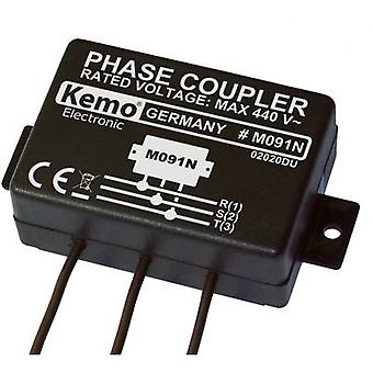 Phase coupler Component Kemo Powerline M091N ATT.FX.INPUT_VOLTAGE: 400 V AC (max.)