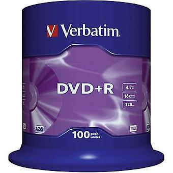 Blank DVD+R 4.7 GB Verbatim 43551 100 pc(s) Spindl
