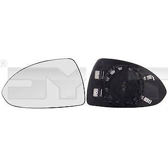 Left Mirror Glass (heated) & Holder For VAUXHALL CORSAVAN Mk IV 2014-2018