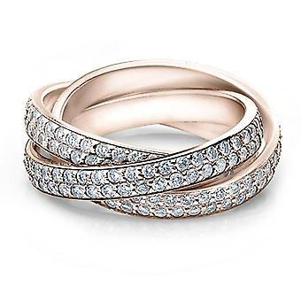 2 3/4ct المتداول خاتم الماس تمهيد الخلود 14 ك روز الذهب