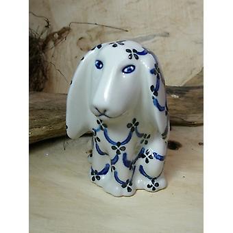 Seduta del cane, 11 x 11 x 7,5 cm, 25 - tradizionale polacco ceramiche - BSN 8016