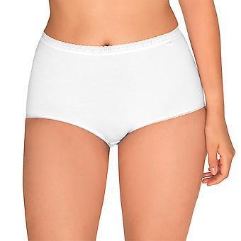 Sans Complexe 619073-Blanc Women's Classique Coton White Full Panty 2 Pack Highwaist Brief