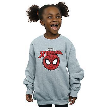 Marvel Girls Spider-Man Logo Head Sweatshirt