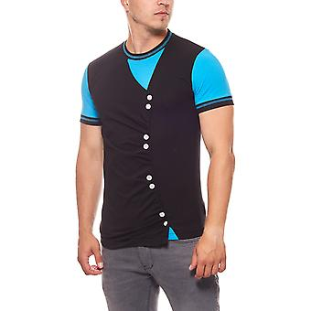 RUSTY NEAL buttons mens T-Shirt black with studs