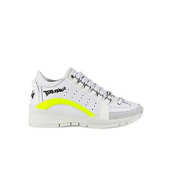 DSQUARED2 WHITE YELLOW 551 SNEAKER