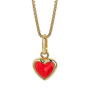 Orphelia Silver 925 Kids Pendant Red Heart  ZH-6061