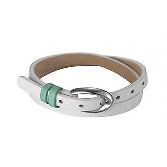 Esprit Damen Armband Leder Edelstahl Rio Milk White ESBR11336D380