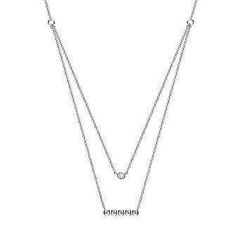 ESPRIT women's chain necklace silver cubic zirconia ESNL93491A420