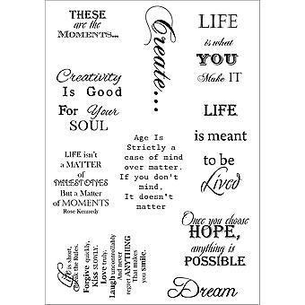Debbi Moore Life Quotes A5 Stamp Sheet-Inspiration 2