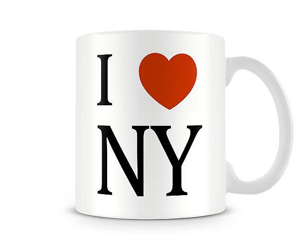 I Love NY Printed Mug