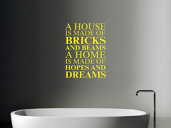 A house is made of Wall Art Sticker - Bright Yellow