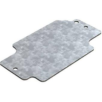 Mounting plate (L x W) 114.7 mm x 64.3 mm Steel plate Deltron Enclosures 4MP1308 1 pc(s)
