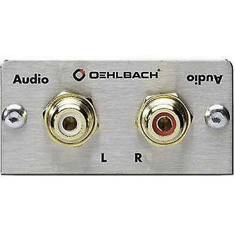 RCA stereo (R/L) Multimedia inset + solder lugs Oehlbach PRO IN MMT AUDIO