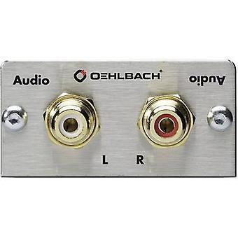 RCA stereo (R/L) Multimedia inset + lodde forbindelsesstykker Oehlbach PRO i MMT lyd