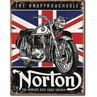 Norton World'S Best Union Flag In B'Ground Metal Sign