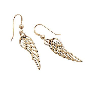 Wings Angel Angel Wings gold plated bronze earrings gold plated