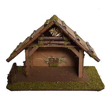 Houten wieg Nativity kerst geboorte stabiel voederbak