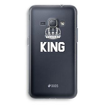 Samsung Galaxy J1 (2016) Transparent Case (Soft) - King black