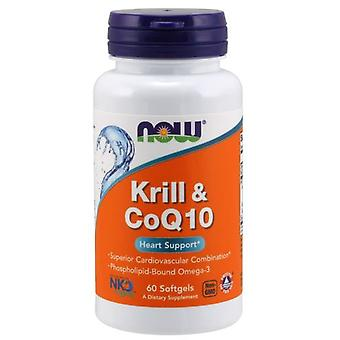 Now Foods Krill & CoQ10 60 soft capsules (Sport , Athlete's health , Omega 3-6-9)
