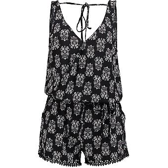 Oneill Black Aop-White Acapulco Womens Playsuit