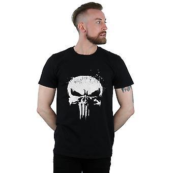 Marvel Men's The Punisher TV Skull Logo T-Shirt