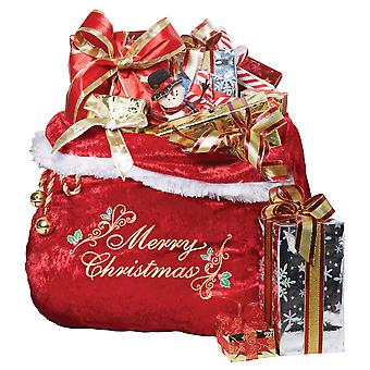 Santa Claus Deluxe Bag Holiday Stocking Gift Bag Mens Costume Christmas Red Sack