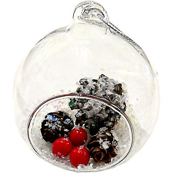 Lilypond Crafts & Gifts Teardrop Christmas Decoration Pine Cones & Berries