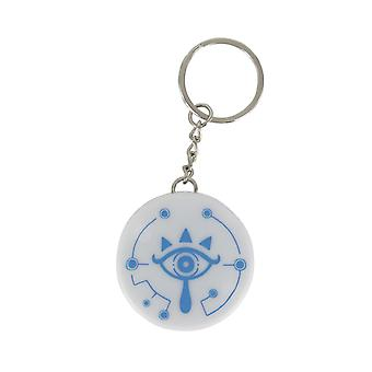 The legend of Zelda LED Keychain Sheikah eye white/blue, printed, plastic, with LED function.