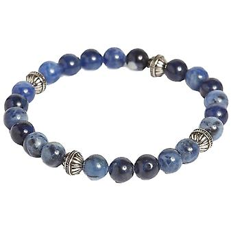 Simon Carter Five Textured Forms and Sodalite Bead Bracelet - Blue/Navy