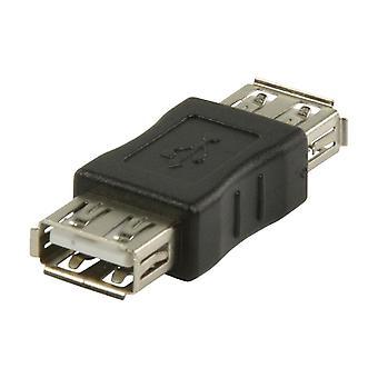 Valueline Vlcp60900b Usb 2.0 Usb A Vrouwelijk - Usb A Vrouwelijk Adapter Zwart