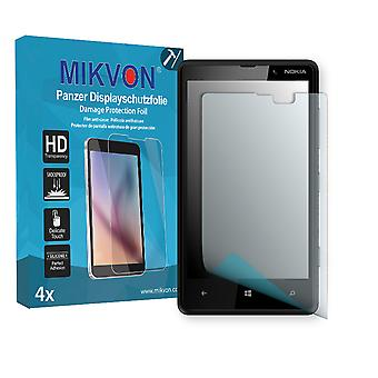 Nokia Lumia 820 Screen Protector - Mikvon Armor Screen Protector (Retail Package with accessories)